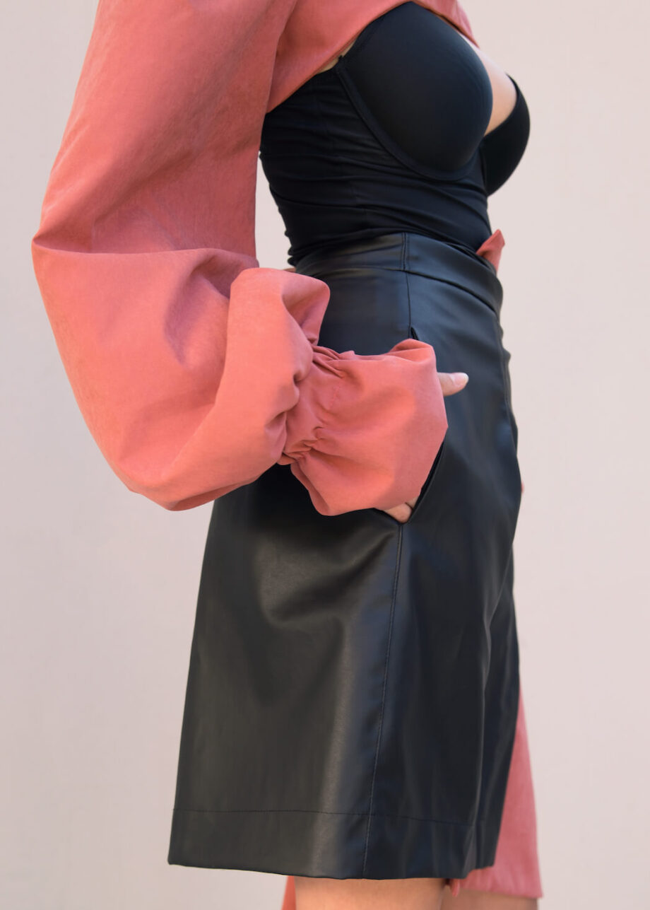 DAIRE Cactus Leather Skirt